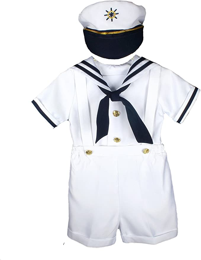 1940s Children's Clothing: Girls, Boys, Baby, Toddler Unotux Sailor Shorts Suit for Infant Toddler Boy Navy Outfits S M L XL 2T 3T 4T $28.99 AT vintagedancer.com