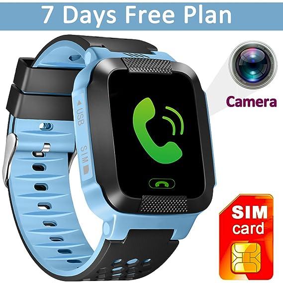 GBD 1.44 inch Touch Kids GPS Tracker Smart Watch with Camera SIM Calls Anti-lost SOS Children Girls Boys Wrist Watch Smart Bracelet Finder Safety ...