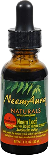 Neem Aura Certified Organic Triple Strength Neem Leaf Extract 1 to 5-1 fl oz