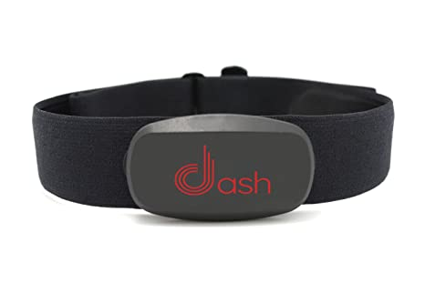 Dash Bluetooth Heart Rate Monitor Chest Strap & Health Sensor for iPhone   Tracks HR Zones & Calories Burned - Perfect for Running, Cycling & Fitness