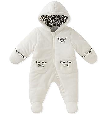 2b70acd5b Amazon.com  Calvin Klein Baby Girls  Silky Sherpa Pram  Clothing
