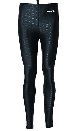 BANFEI Hombre Mujer Bañador de Competición Largo Pantalones para Natación  Surf Deportes Acuáticos EU L Negro 37377f3fe89