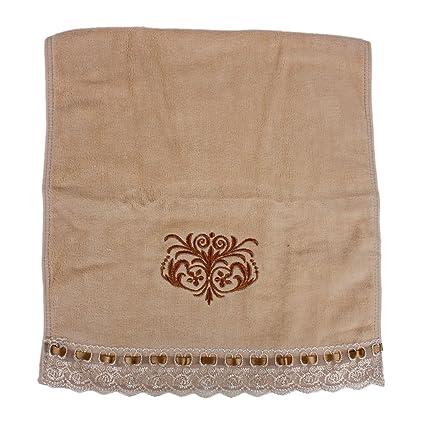Sourcingmap-bordado-Guante Manopla de toalla de mano, color beige