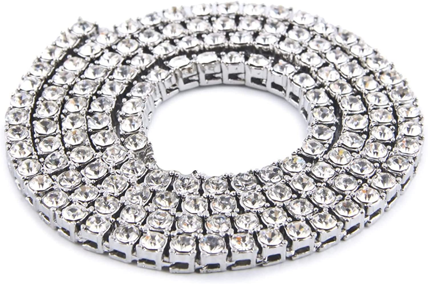 Alloy Box Chain Necklace for Men Aokarry Stylish Mens Tennis Chain