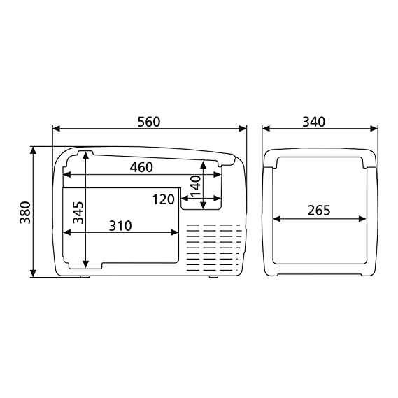 Amazon.es: DOMETIC Coolfreeze CDF 36 - Nevera de compresor ...
