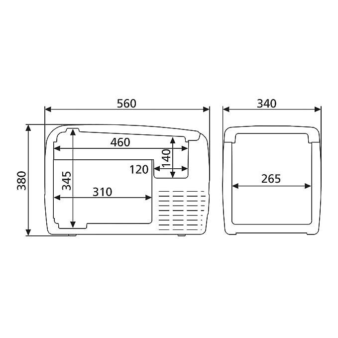 Amazon.es: DOMETIC Coolfreeze CDF 36 - Nevera de compresor portátil, congelador con conexiones de 12/24 V, 31 litros