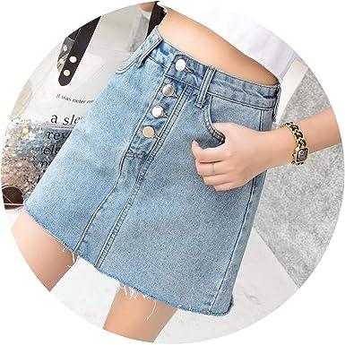 baaa7599ad Fashion A-line Women Denim Skirt Plus Size Bodycon Ladies Skirt Casual  Vintage Spring Summer 2019 Sexy Retro High Waist Skirt at Amazon Women's  Clothing ...
