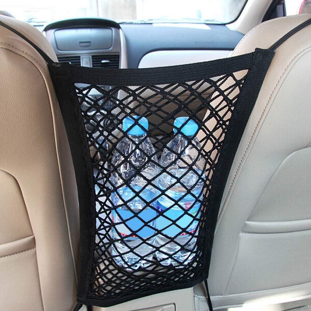 Sitzlehne Netztasche Auto Kleinigkeiten Taschenhalter mit Doppelschicht f/ür Geldb/örse Tasche Telefon Haustiere Kinder Kinder St/ören Stopper Nikou Universal Car Seat Storage Organizer