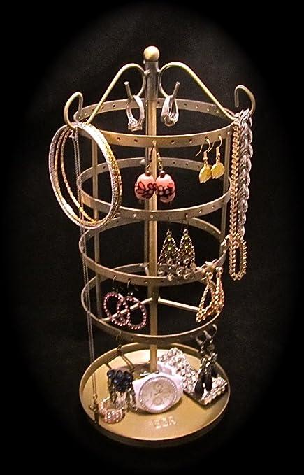 Amazoncom BRONZE GOLD Earring Go Round Carousel Jewelry Organizer