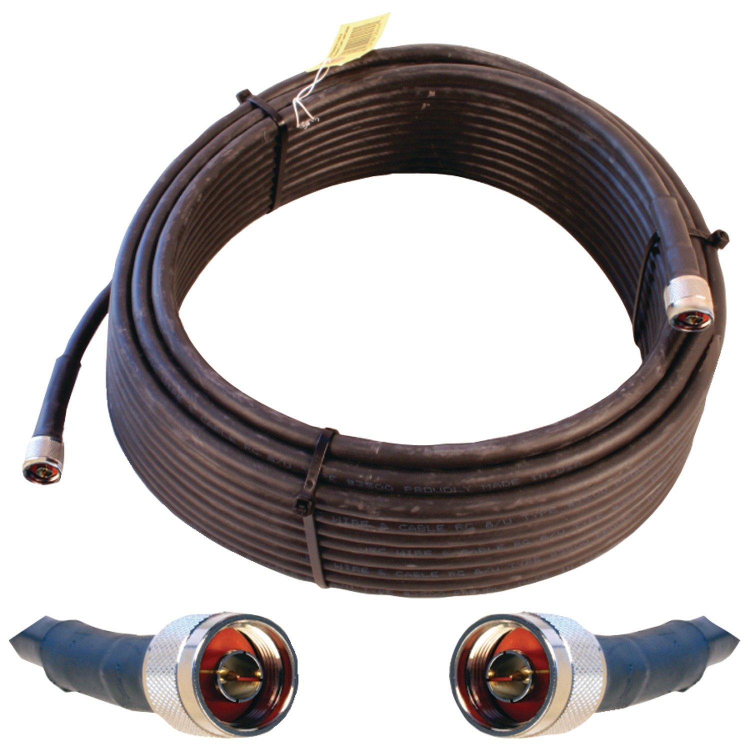 Wilson Electronics 75 ft. Black WILSON-400 Ultra Low Loss Coax Cable (N-Male to NMale)( 952375) by weBoost
