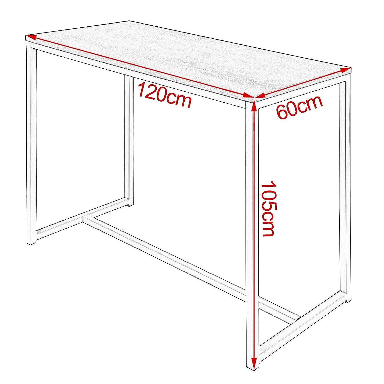 120x60x105cm WOLTU Bartisch BT21hei Stehtisch Bistrotisch Bartheke Tresentisch Metallgestell Hell Eiche Tischplatte aus MDF BxTxH