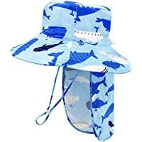 Baby Sun Hat with Neck Flap Toddler Hats for Boys Girls Infant Sun Hat Toddler Bucket Hat Cute Baby Beach Hat UPF 50+