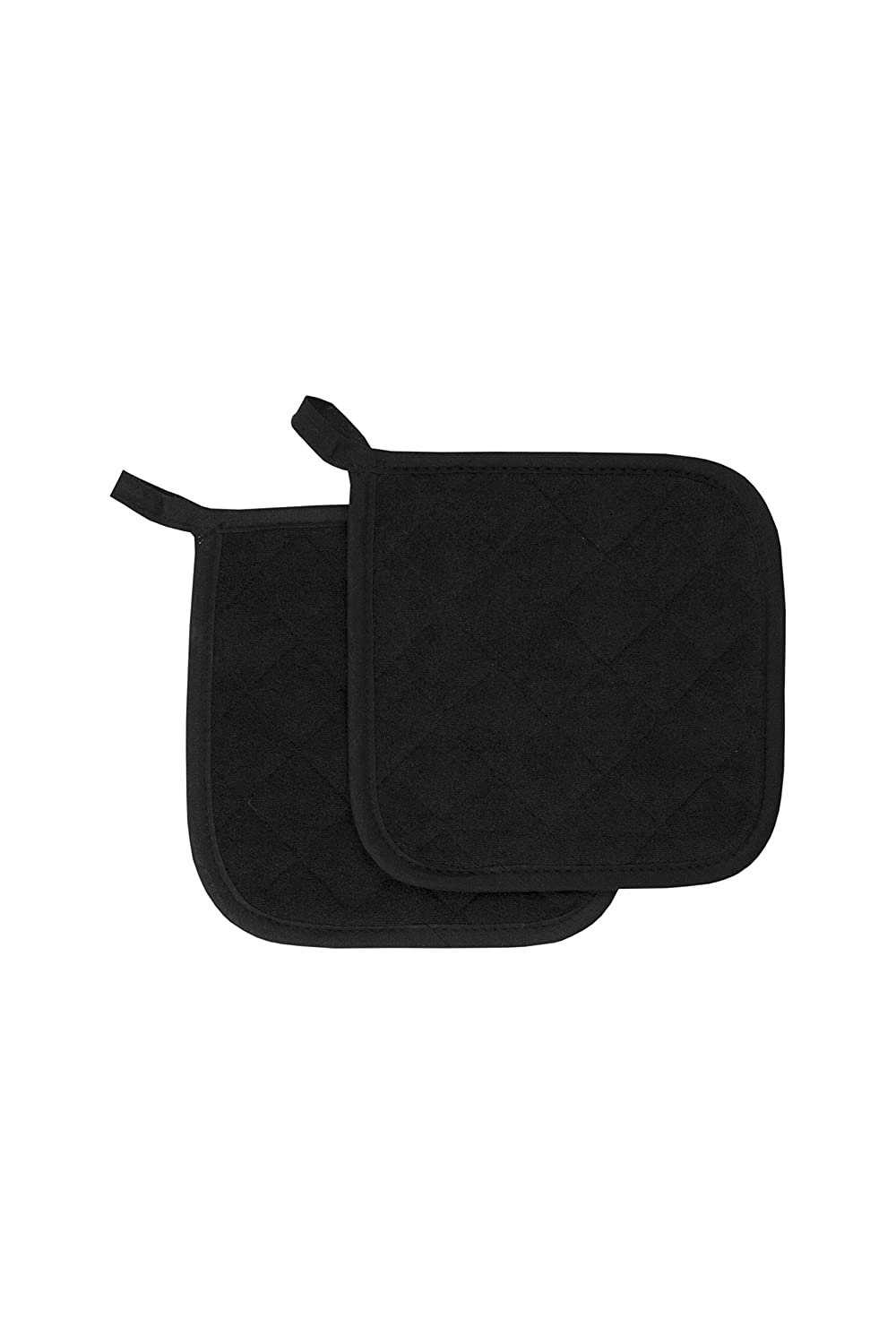 RITZ Food Service CLTPH8BE-1 Cotton Terry 450 Degree Pot Holders, 8-Inch, Black/Brown