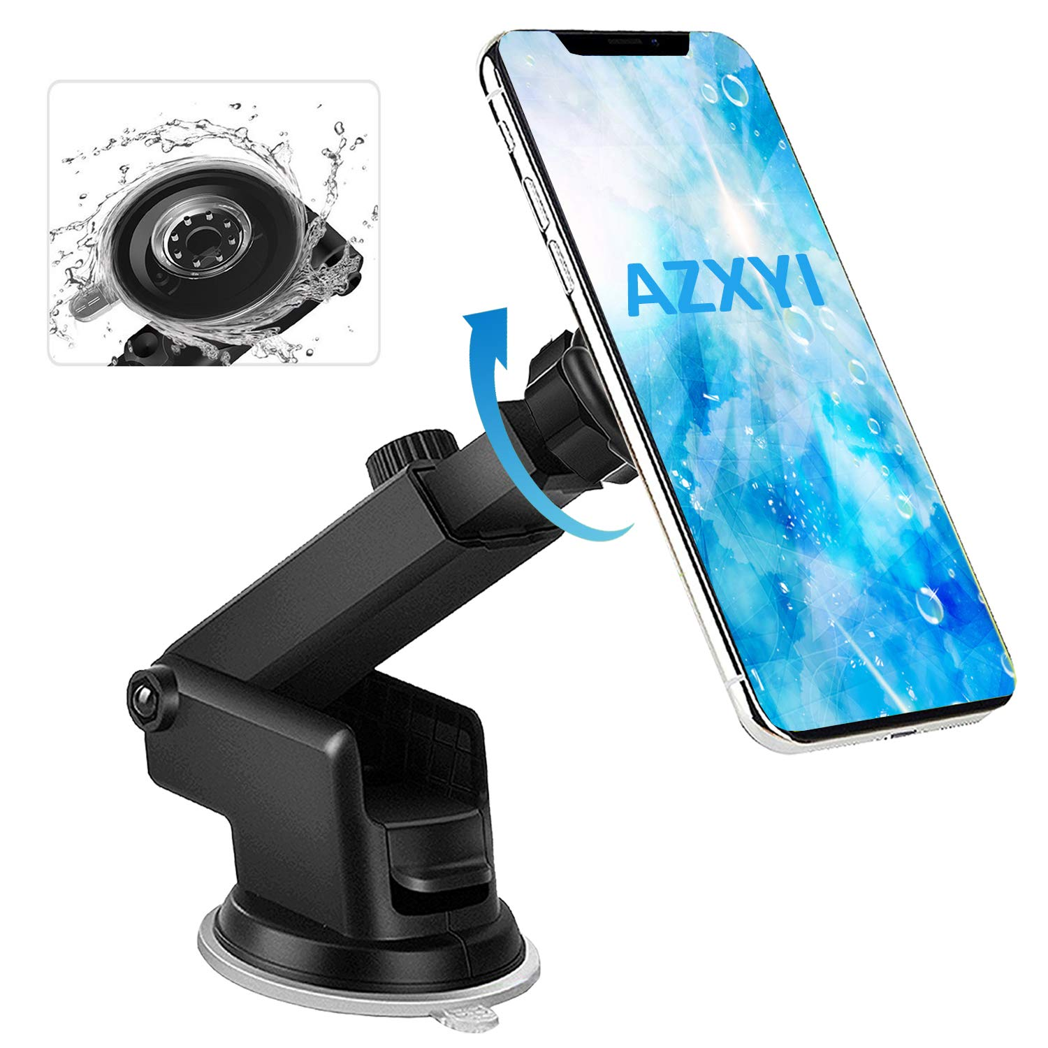 Pop Car Mount, AZXYI 360° Rotation Pop Out Clip Mount in Car Air Vent and Pop Out Stand Car Mount on Dashboard, Expanding Phone Standing and Grip for All Pop Stand User - [2 Pack]