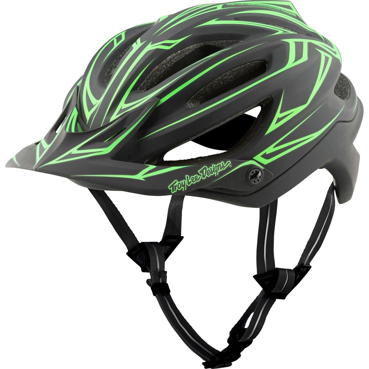 Troy Lee Designs Pinstripe schwarz Grun A2 MIPS MTB Helm