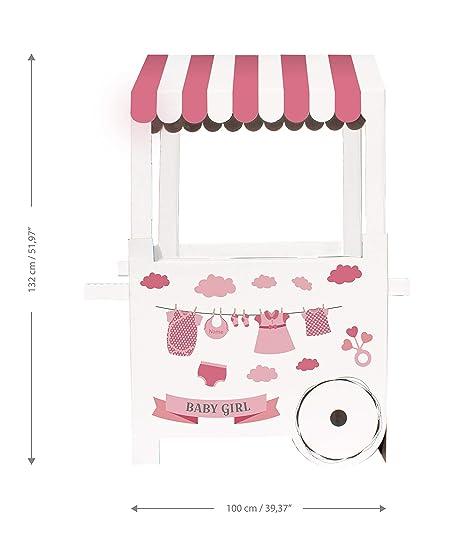 Mery & Lola Party Deco Carrito DE CHUCHERIAS de Cartón Baby Shower/ Bautizo NIÑA, ...