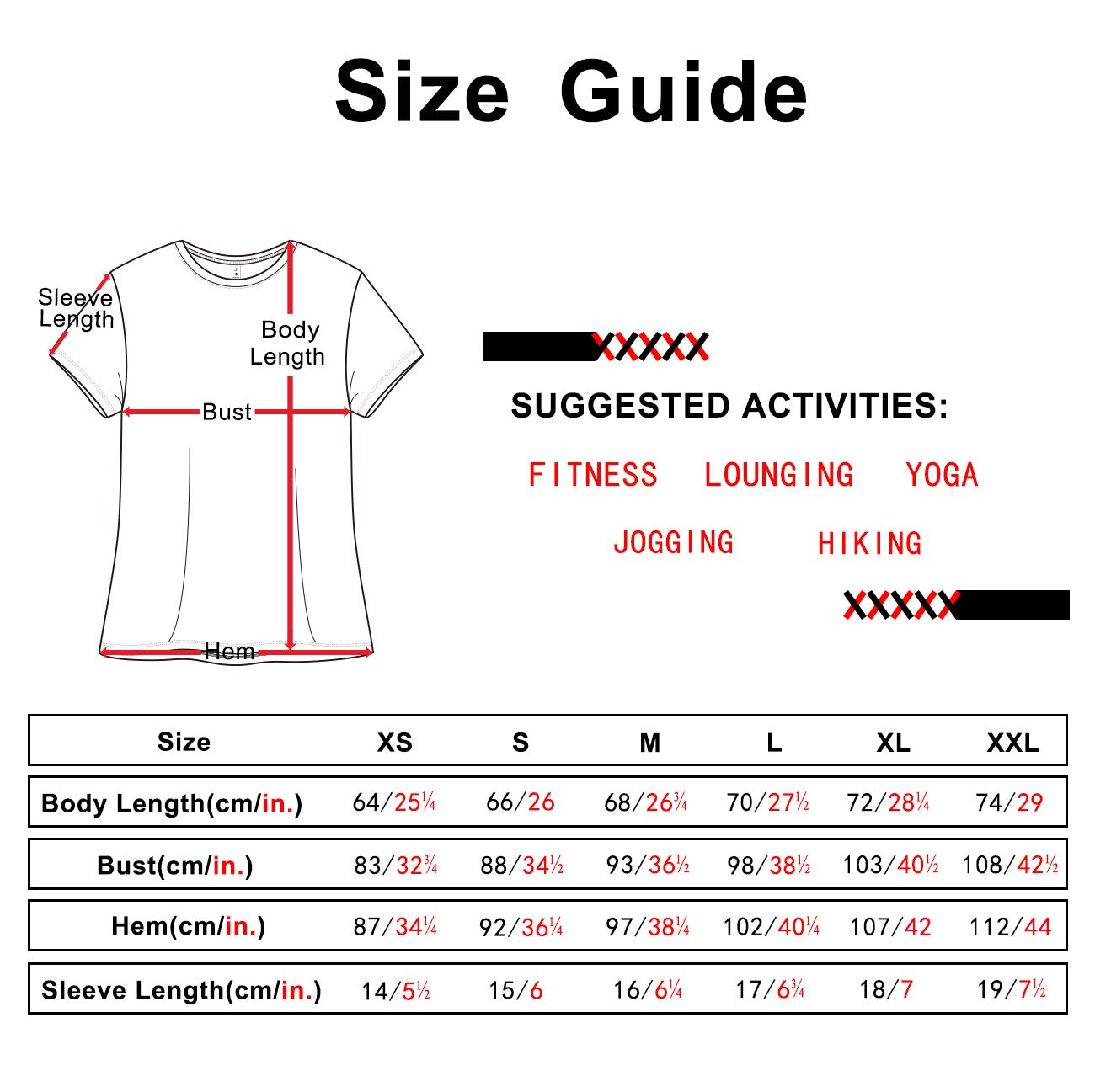 icyzone Workout Shirts for Women - Yoga Tops Gym Clothes Running Exercise Athletic T-Shirts for Women (Black, L)