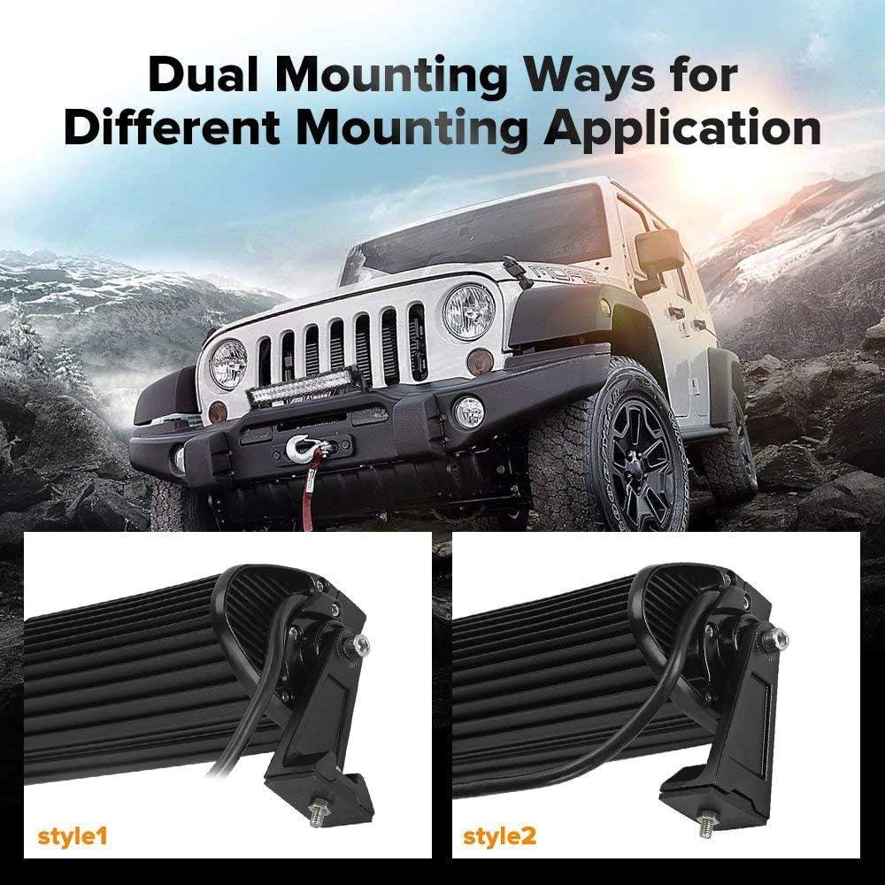 Pack of 2 MOTL 4 Side Shooter LED Pods 19W2Pcs LED Light Bar Off Road Light Pods with 19pcs 1w Led Chips Spot Flood Combom Beam