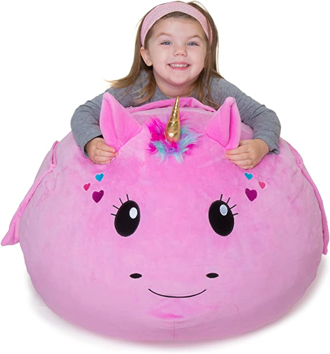 Coffee 35x43inch 90x110cm Serenable Adult Size Stuffed Animal Storage Bean Bag with Carrying Handle