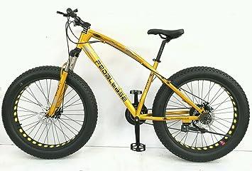 Pedalease Big Cat Fat Bike MTB nieve playa Suspensión delantera, freno de disco 21 velocidad: Amazon.es: Deportes y aire libre