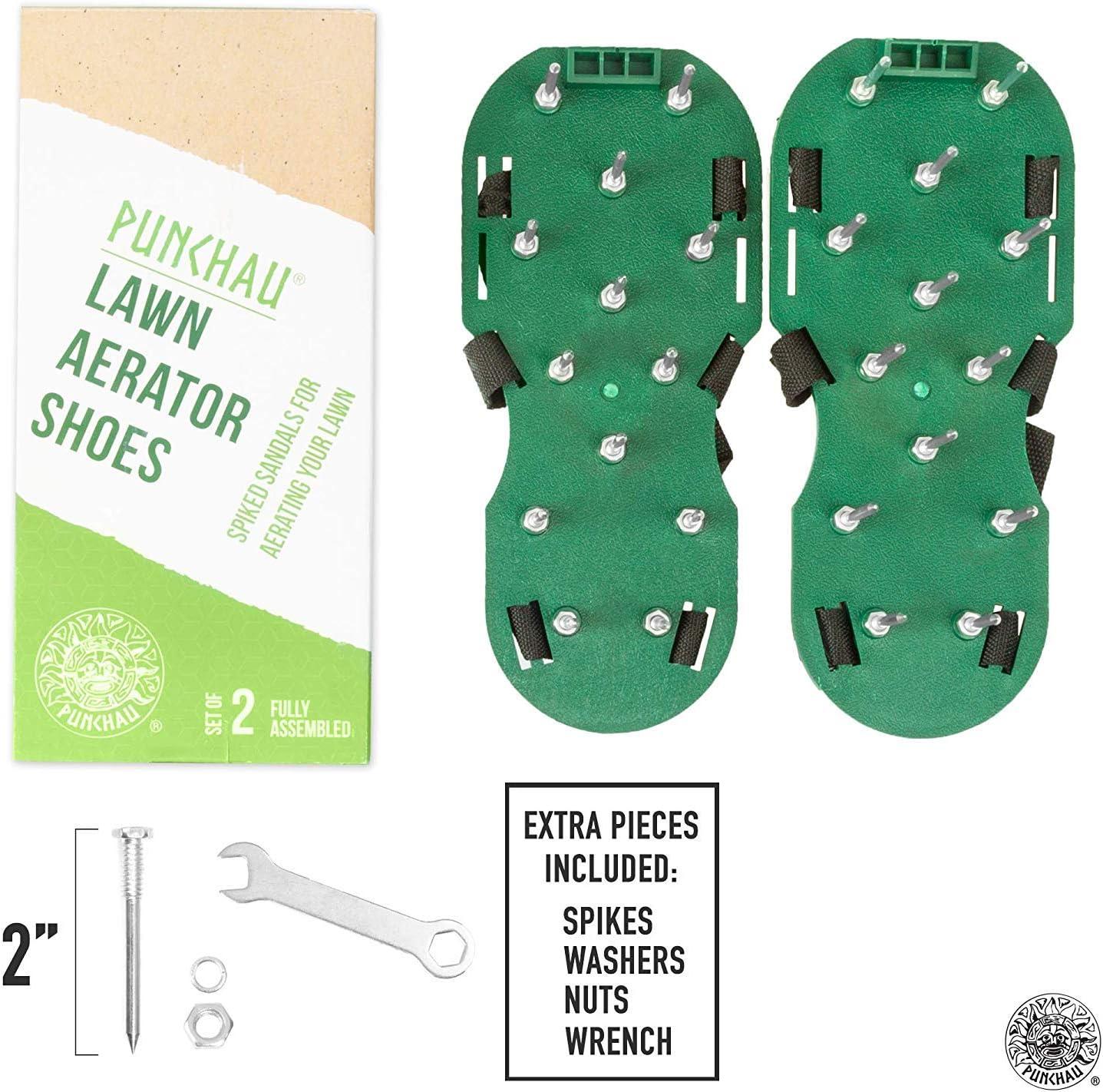 Punchau Zapatos Resistentes Con Puas Para Airear El Cesped De Su Jardin O Pa...