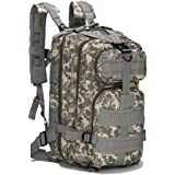 Eyourlife Military Tactical Backpack Small Rucksacks Hiking Bag Outdoor Trekking Camping Tactical Molle Pack Men Tactical Combat Travel Bag 20L
