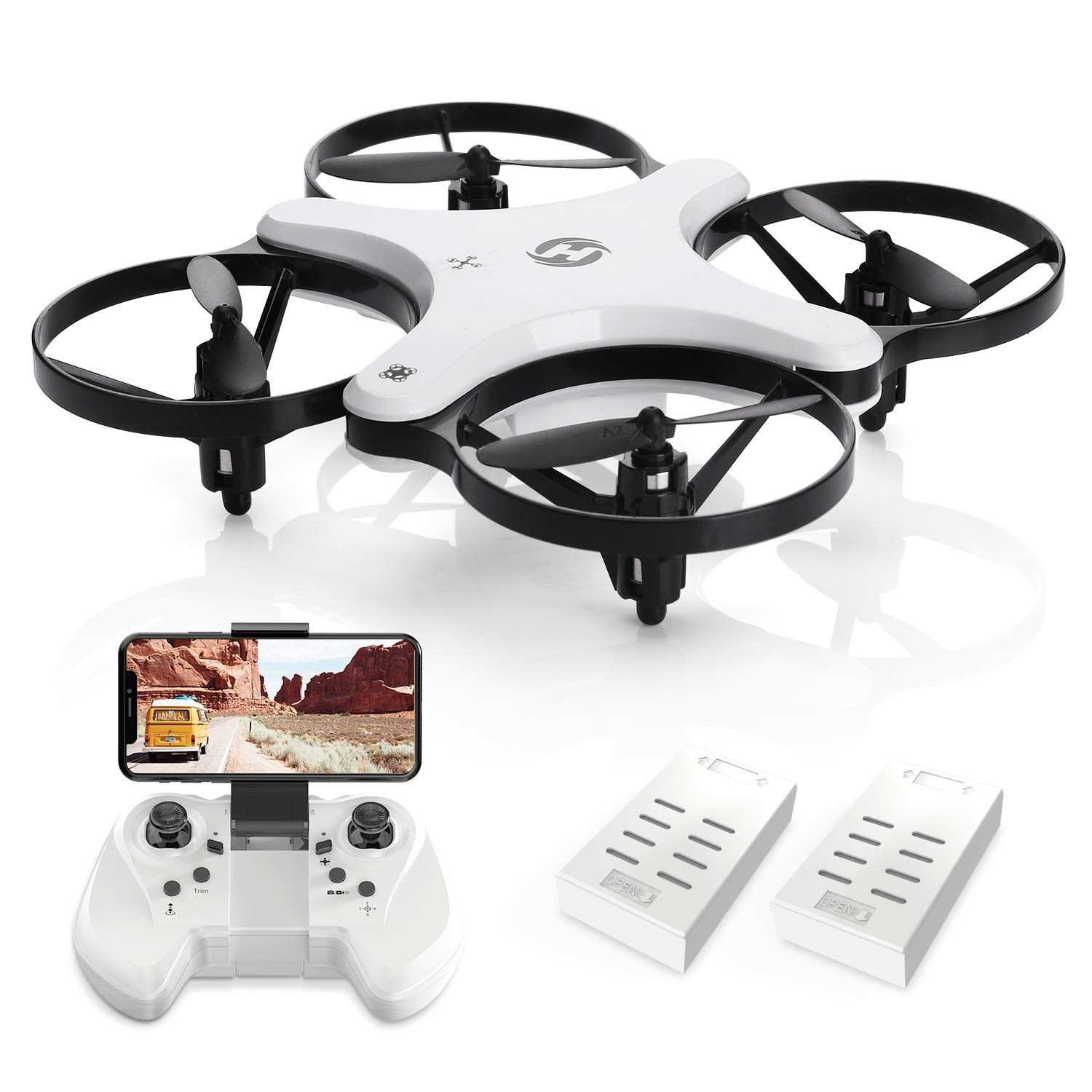 Holy Stone HS220 Drone for Kids, WiFi FPV Drone with Camera 720p HD, RC Quadcopter Drones for Beginners, Foldable Drone with APP Control, Altitude Hold, Modular Battery,One Key Start,Double mode drone