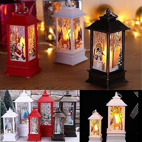 Christmas Table Lamp Creative Printing Lights Candlestick Decoration