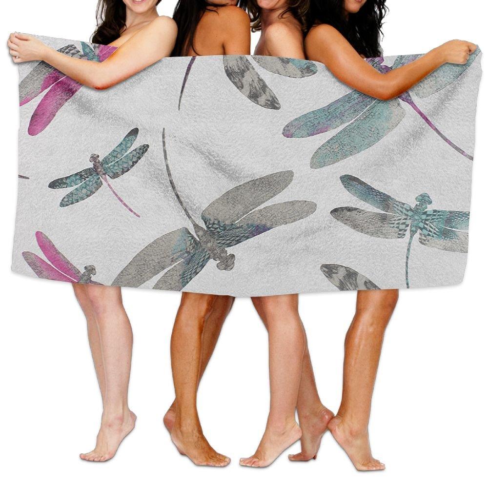 Jaylut 32 Inch51 inch 3D Print Bath Towel Dragonfly Dance Soft High Water Absorption Wrap Washcloths