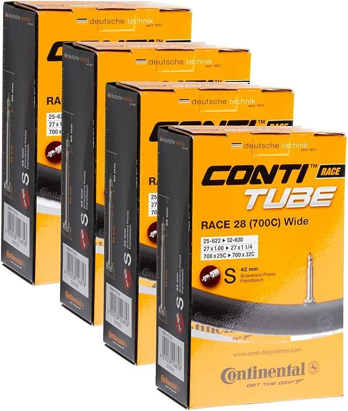 Wide 4 x Continental Bike Inner Tube Race 28 700 25 32 Presta 60mm cycle valve