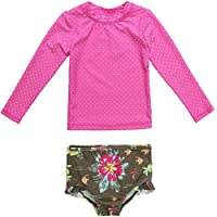 Wetopkim Baby Girl Rash Guard Swimwear Long Sleeve Bathing Suit Toddler Girl Swimwear
