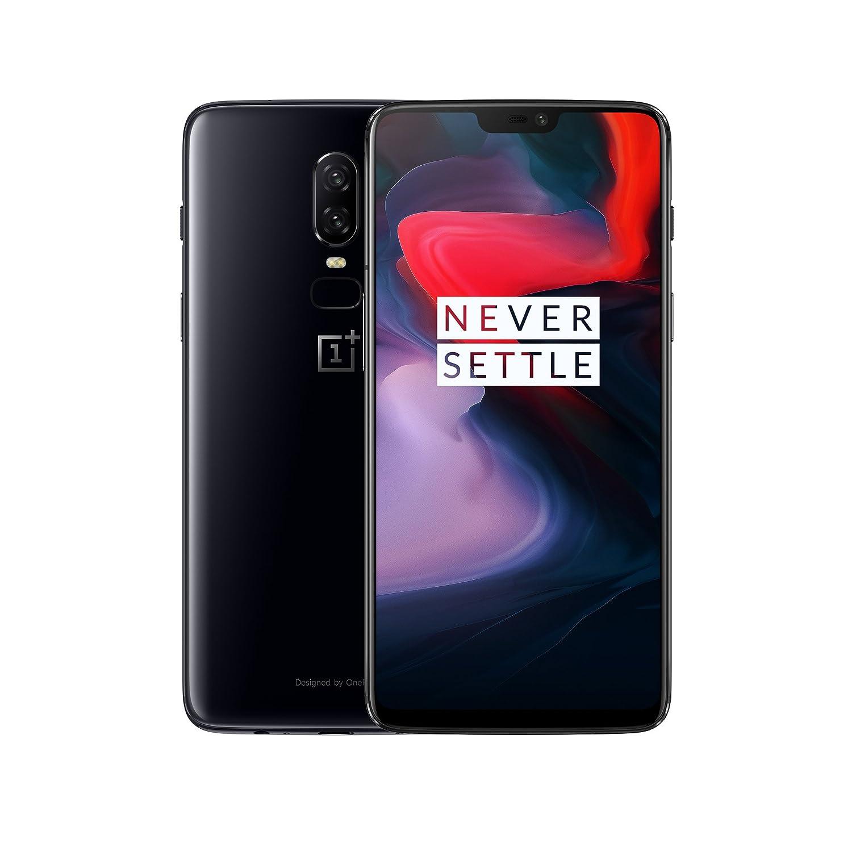 OnePlus 6 Smartphone 8GB RAM, 64 GB Memoria (non espandibile), OxygenOS basato su Android Oreo, Dual SIM, Nero (Mirror Black)