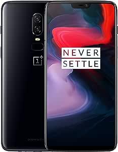 OnePlus 6 A6003 Dual-SIM (128GB Storage   8GB RAM) (GSM Only, No CDMA) Factory Unlocked 4G Smartphone (Mirror Black) - International Version / No Warranty