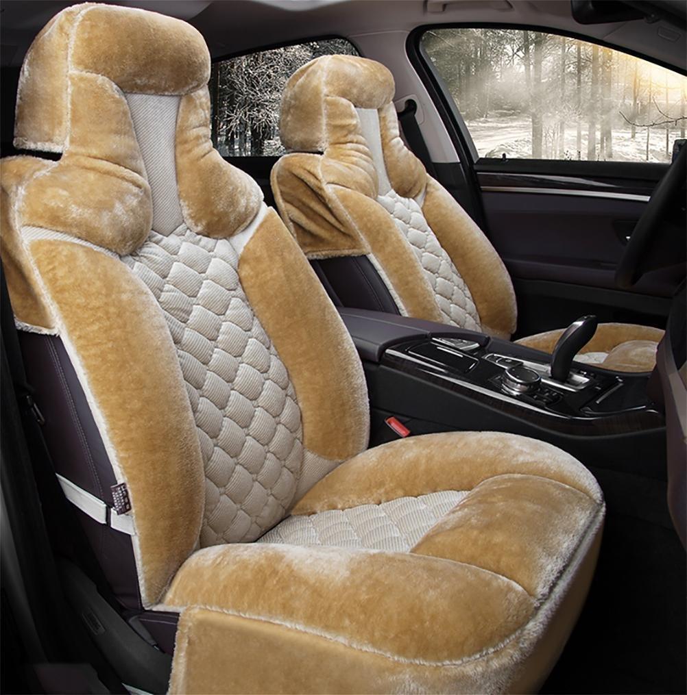 YAOHAOHAO The fashion, the softness of lint khaki, car seat cover
