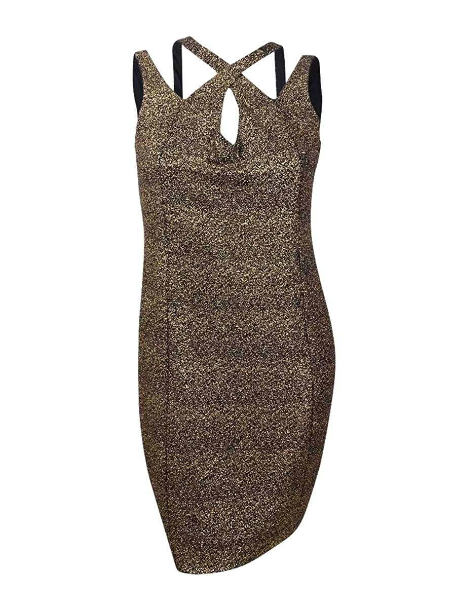 City Chic Womens Plus Metallic Strappy Cocktail Dress OO121247