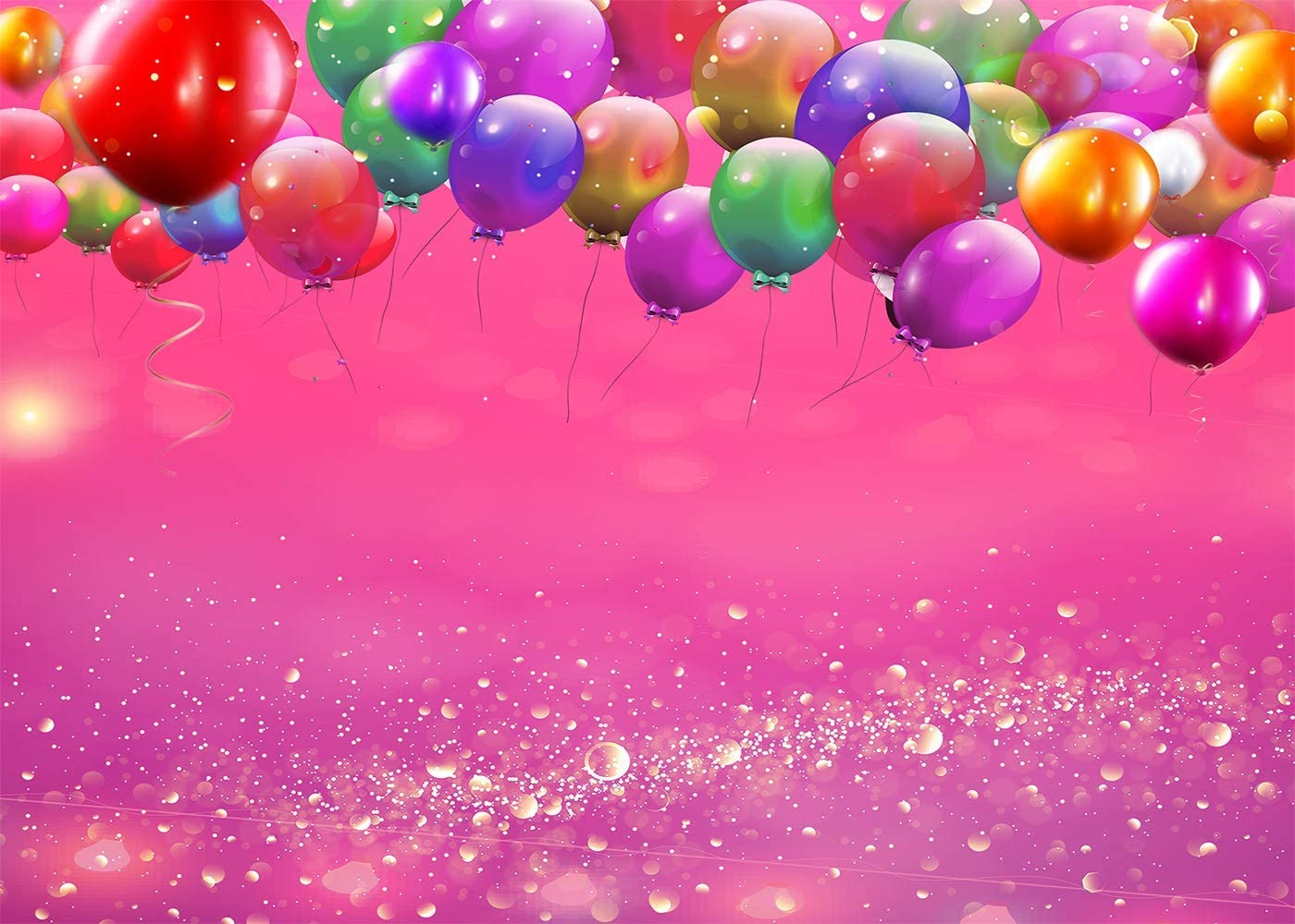 10x8ft Colorful Balloons Photography Backdrop Birthday Party Pink Purple Backdrops for Kid Baby Shower Decorative Banner Photo Studio Props HXFU235