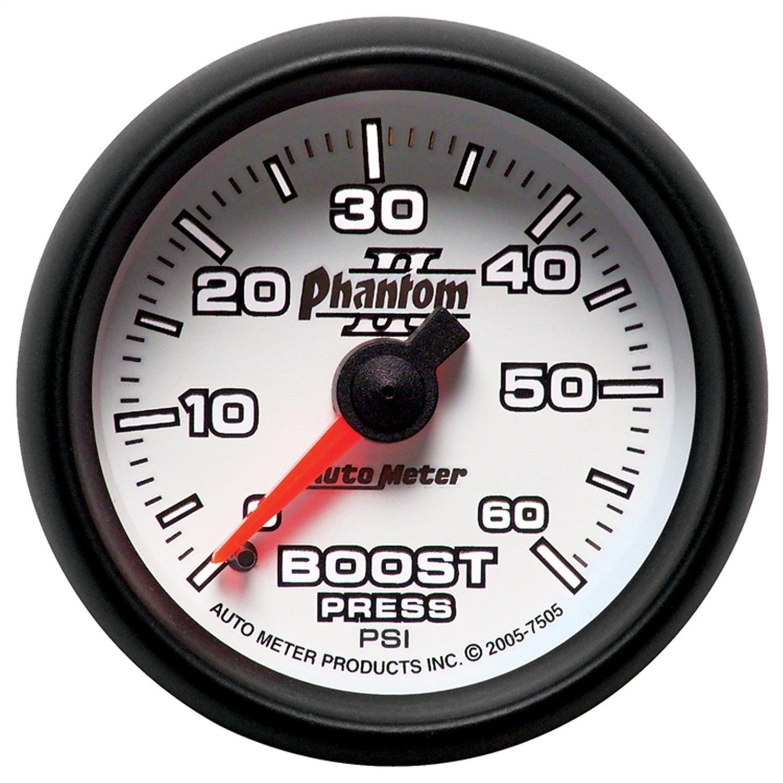 Auto Meter 7505 Phantom II Mechanical Boost Gauge