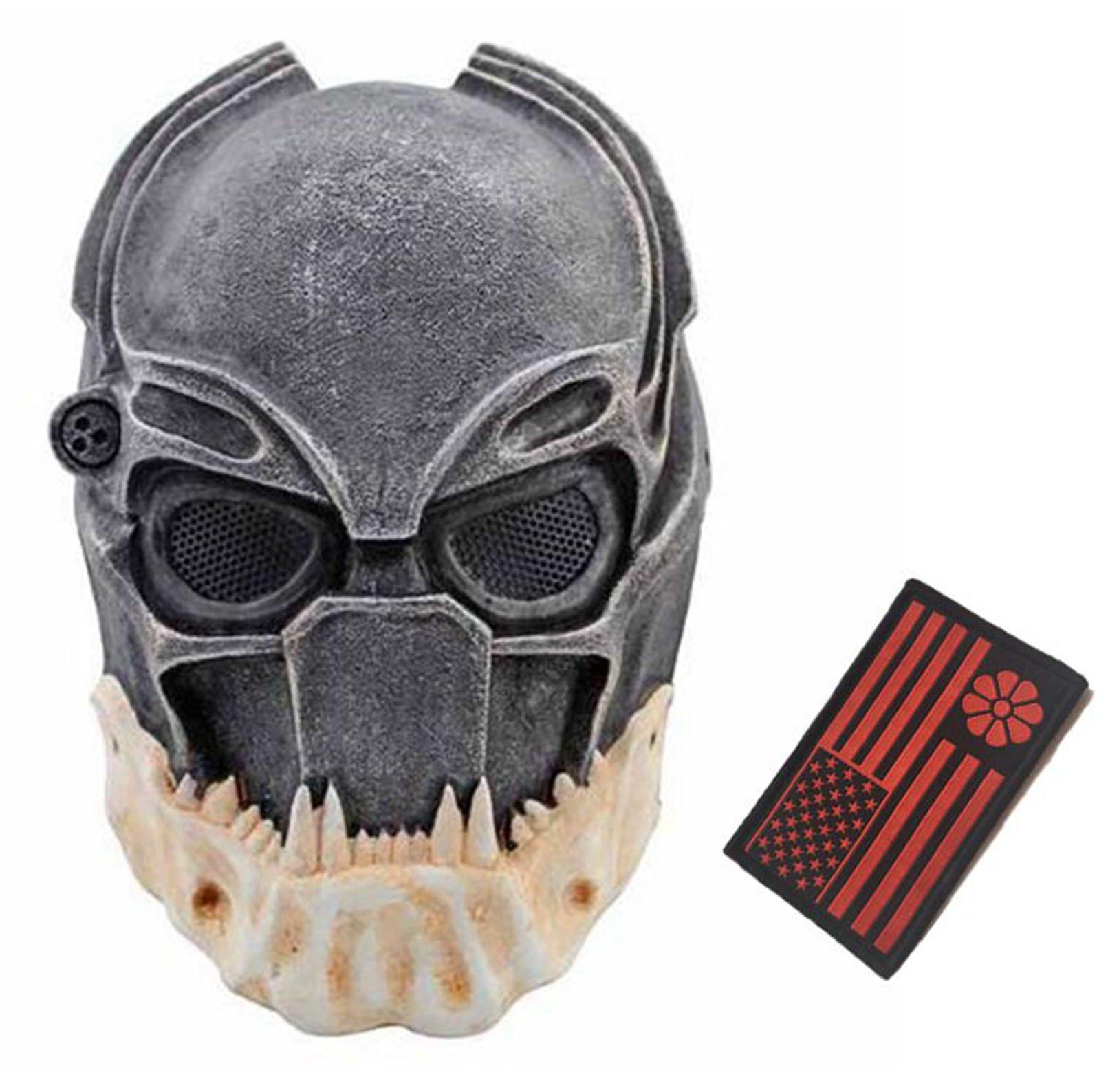 Eternal Heart WT606 Wire Mesh Alien Vs Predator AVP Wolf Full Face Protection Mask (Multicolor) by Eternal Heart
