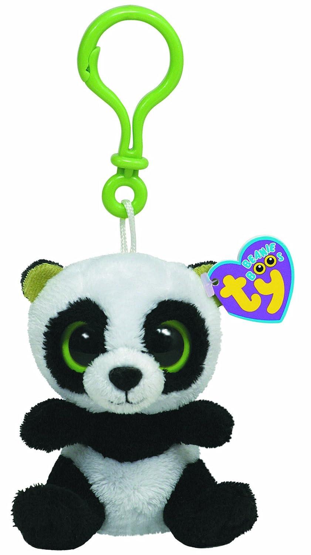 Ty 36502 Beanie Boos - Oso panda de peluche Bamboo con anilla: Amazon.es: Juguetes y juegos