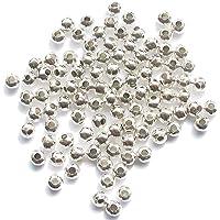 Perlas de Metal Espaciador - Plateado - 200-4