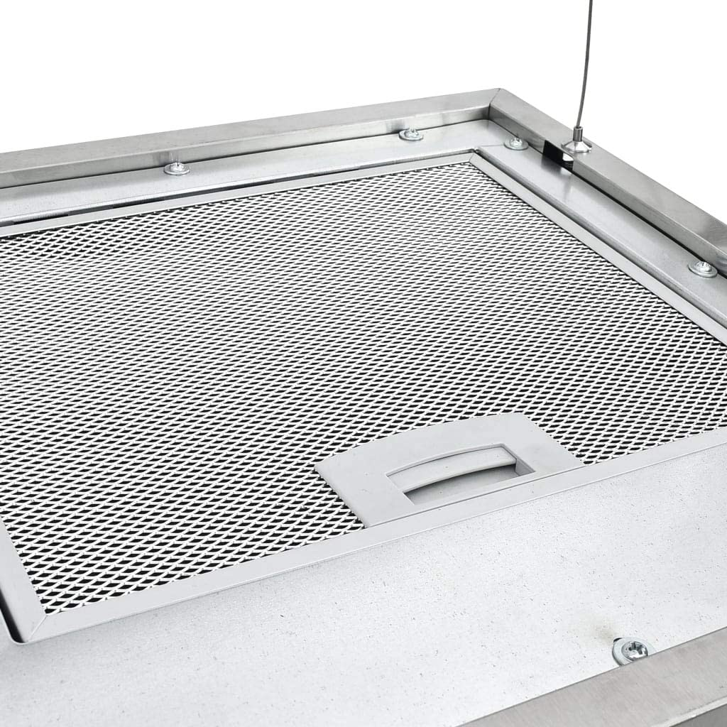vidaXL Campana extractora colgante táctil LCD acero inoxidable 37 cm: Amazon.es: Hogar