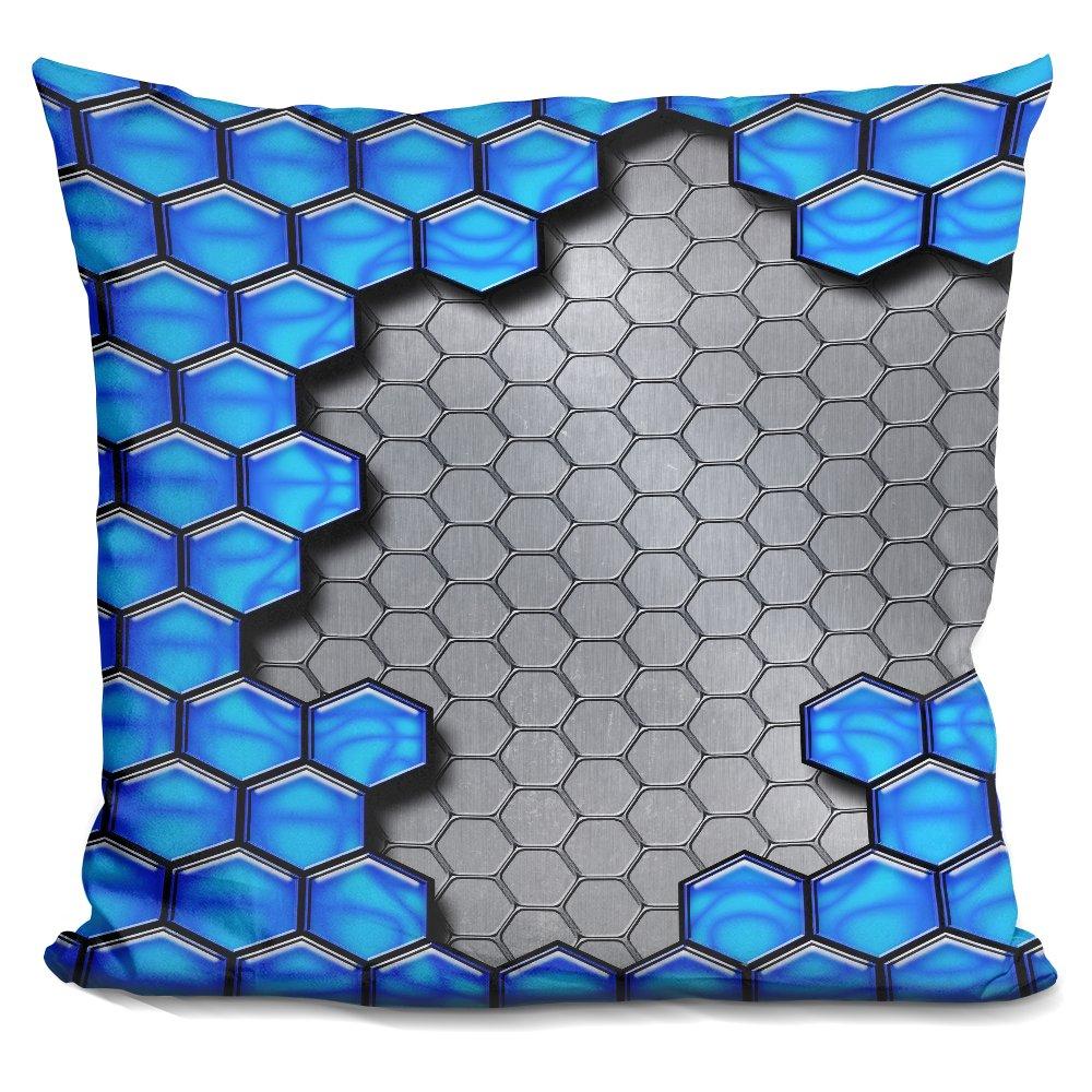 LiLiPiBlue Metallic Scale Decorative Accent Throw Pillow