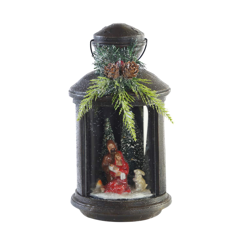 CEDAR HOME Decorative Garden Lantern Outdoor LED Light Vintage Style Yard Patio Landscape Lamp, 5''W x 5''D x 9.5''H