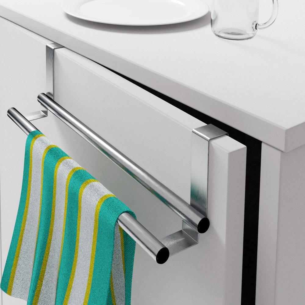 2x Handtuchhalter Edelstahl zum einhängen ohne Bohren ...