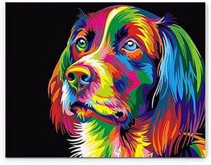 ILS – 50 x 40 cm colorido cachorro perro pequeño animal de ...