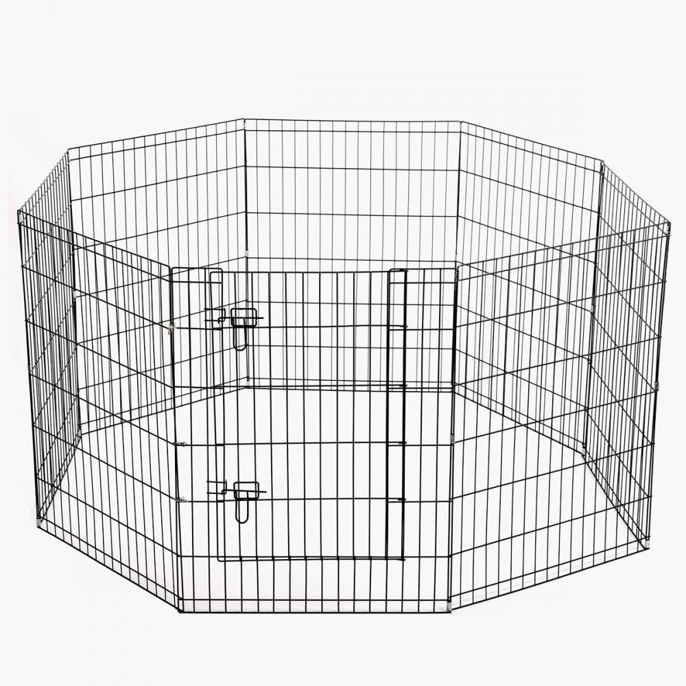 BestPet 41 Dog Playpen Soft Crate Fence Pet Kennel Play Pen Exercise Cage 8 Panel with Carry Case