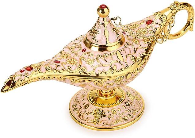 BTSKY - Lámpara de Aladín Mágica de Lujo con Caja Lámpara de Aladín Mágica, Decoración Vintage para Hogar, Oficina, Decoración de Mesa, Manualidades, Beige: Amazon.es: Hogar