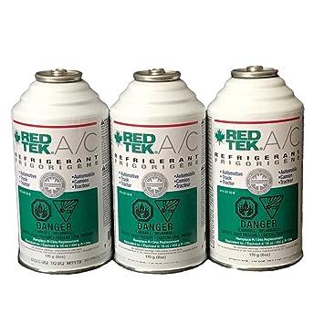 Amazon.com: 3 latas – REDTEK A/C refrigerante (6 oz lata ...