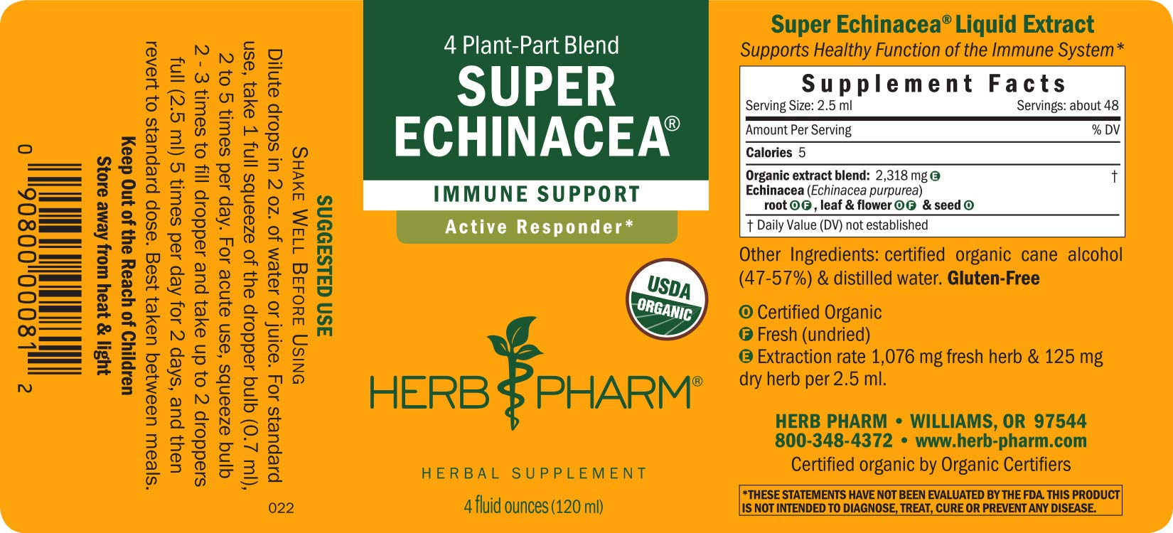 Herb Pharm Certified Organic Super Echinacea Liquid Extract for Active Immune System Support - 4 Ounce by Herb Pharm (Image #7)