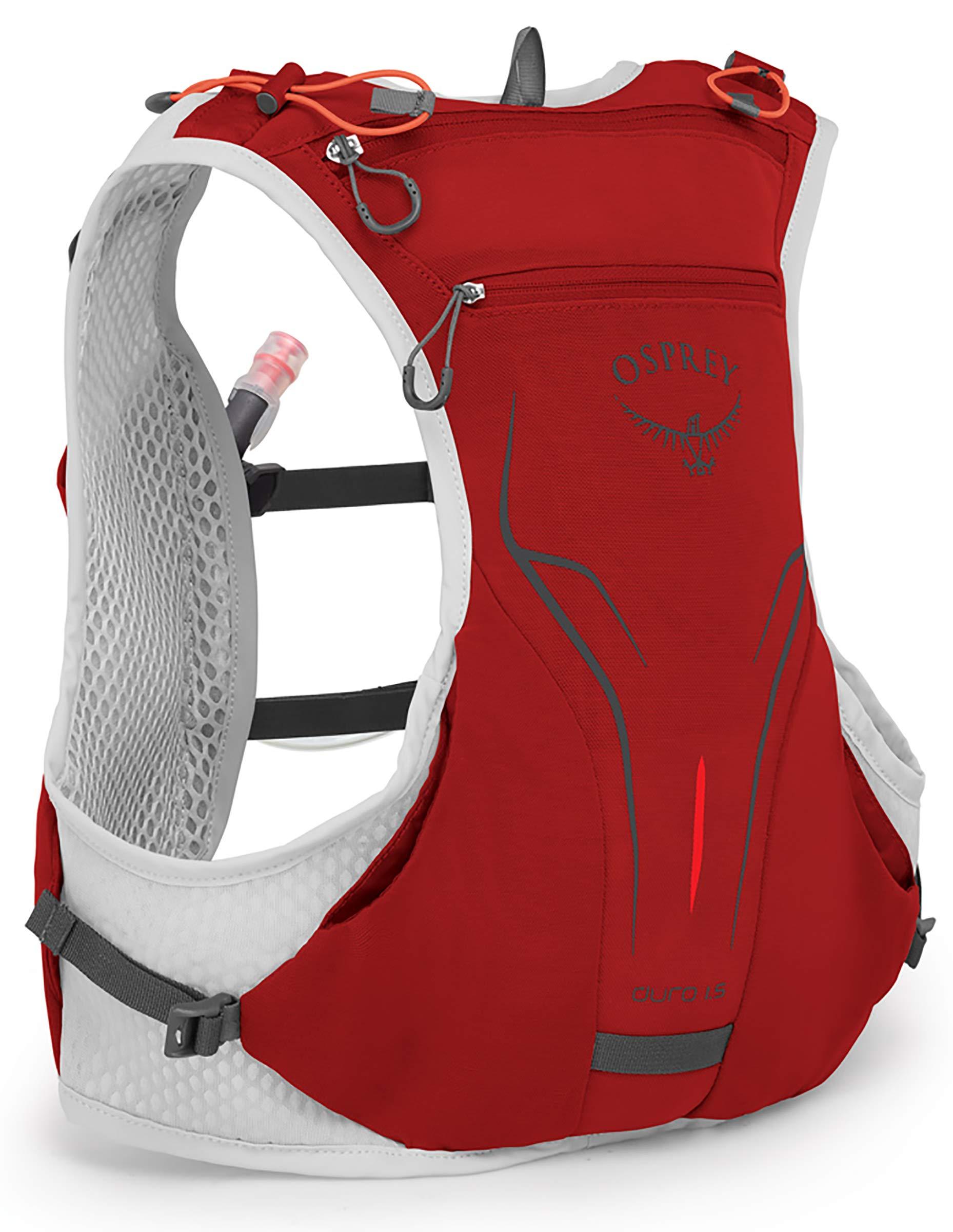 Osprey Packs Duro 1.5L Running Hydration Vest, Phoenix Red, Medium/Large
